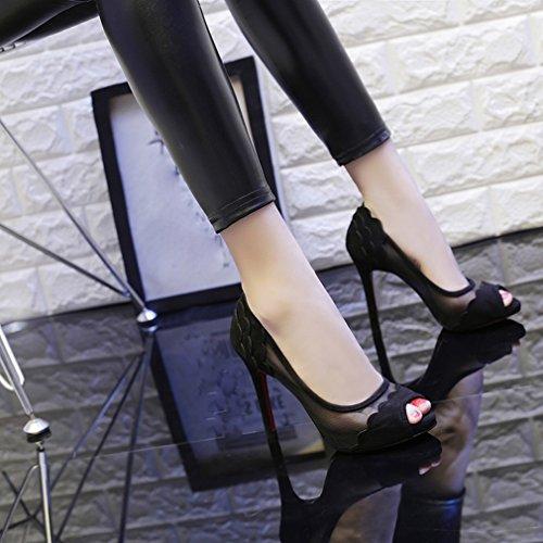 Zapatos de Tacón Alto con Gasa Delgada a Prueba de Agua Zapatos de Mujer Sex UN