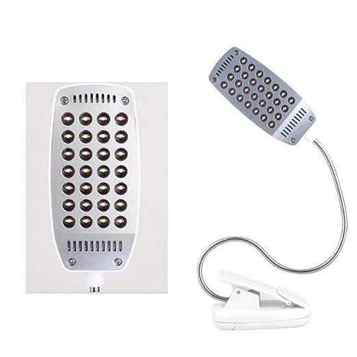 Haodene Lámpara de Lectura LED para Libro - 28 LED Cuello Flexible ...