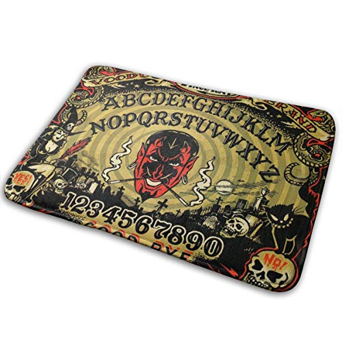 Tidyki Doormat Bath Mat Carpets?Memory Foam Rugs Non-Slip Backing Absorbent Machine Washable Bathroom Decor Laundry Room Mats Augury Witch Devil Ouija Board 18