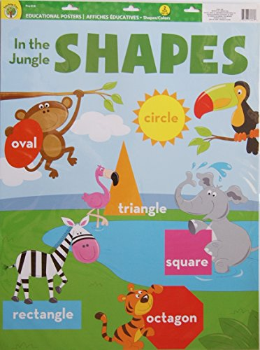 Teaching Tree Large Educational Wall Posters - Shapes and Colors - Set of 2 - 17 x 21.5