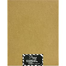Hilroy Papier Social Stationery Paper, 8.5-Inchx11-Inch, Pack of 10, Kraft (79016)