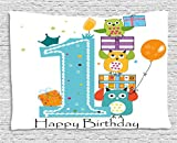 1st Birthday Decorations Tapestry by Ambesonne, First Cake - Best Reviews Guide