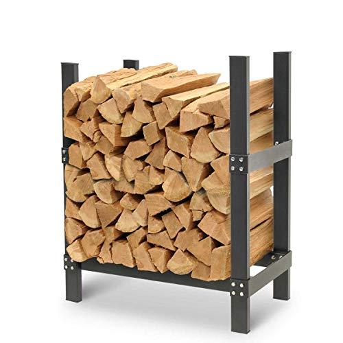 "Napa Forge by Pilgrim 19430 Pro 24"" Firewood Rack Log Holder, Durable Black Powder Coat"