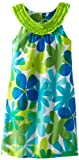 Rare Editions Girls 7-16 U-Neck Dress, Turquoise/Lime/Blue, 12 image
