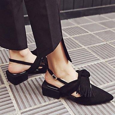 NVXZD Da donna-Ballerine-Casual-Con cinghia-Quadrato Heel di blocco-PU (Poliuretano)- , light brown , us6.5-7 / eu37 / uk4.5-5 / cn37