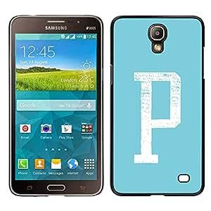 Stuss Case / Funda Carcasa protectora - Aparcamiento Carta minimalista inicial Blanco Verde; - Samsung Galaxy Mega 2
