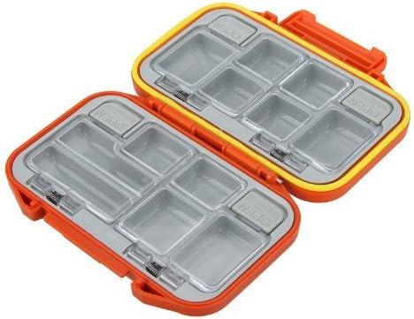 Andoer® Caja para accesorios de pesca Caja para herramientas Caja para utensilios de pesca 12 compartimentos Resistente al agua (naranja): Amazon.es: Bricolaje y herramientas