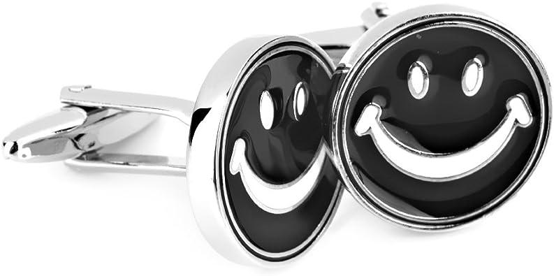 F Fityle Camisa Sonriente De Gemelos De Vestir Cara Gemelos para La Oficina De La Boda Regalo 1 Par: Amazon.es: Joyería