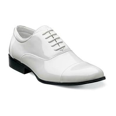 a38418e6d30 Amazon.com | STACY ADAMS Gala White Cap Toe Oxford Patent Leather ...