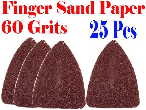 Bosch Fein 25 Pack: 40 Grit MultiTool Triangular Sanding Sheets Craftsman +