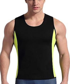 QIGAOZU Adelgazante Chaleco Hombres Body Shaper Camisa Caliente Neopreno Sudor Sauna Traje Hombres Adelgazar Fitness Cintura Entrenador Tanque Top sin Cremallera: Amazon.es: Deportes y aire libre