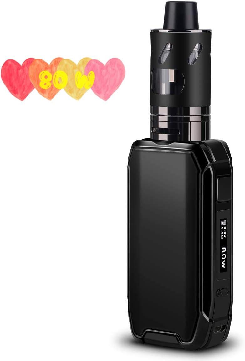 Cigarrillos Electrónicos/E Shisha Starter Set 80W Box Mod, FREDEST X15 Cigarrillo Eléctrico/Vaper/E-Cigarette Con 2500mah Batería incorporada, 2.0ml/0.5Ohm Atomizador,Sin Tabaco,Sin Nicotina (Negro)
