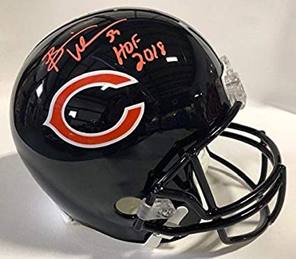 Brian Urlacher Hof 2018 Autographed Signed Chicago Bears Mini Helmet Jsa Coa Sports Mem, Cards & Fan Shop
