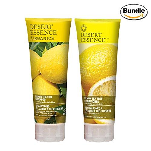Desert Essence Organics Lemon Tea Tree Shampoo & Conditioner Bundle - 8 fl oz ea