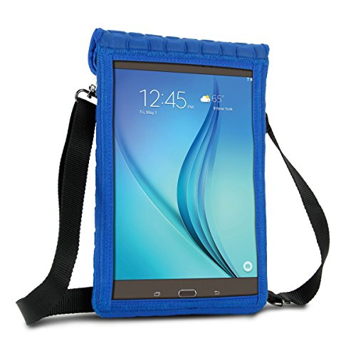 10 Inch Tablet Case Holder Neoprene Sleeve Cover by USA Gear (Blue) Built-in Screen Protector & Carry Strap - Fits Samsung Galaxy Tab A 10.1, Insignia FLEX 10.1, Acer ICONIA ONE 10, more 10