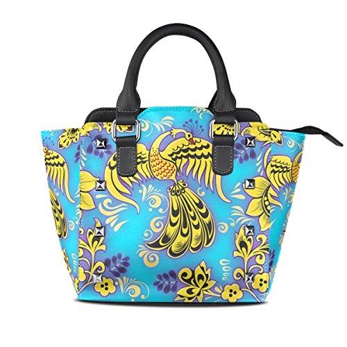 Women's TIZORAX Yellow Tote Abstract Handbags Bags Leather Shoulder Phoenix FBBrtxR