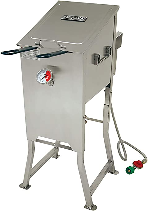 Bayou Classic 4 Gallon Stainless Steel Propane Deep Fryer 700-701 With 2 Baskets