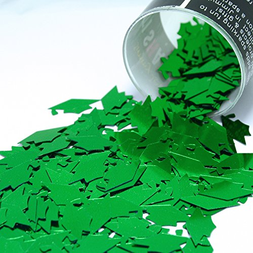 Confetti Grad Caps in Green - Retail Pack #8405 - Free Ship (Grad Invite)
