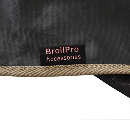 BroilPro Accessories Premium Log Carrier, Heavy Duty Ployester Firewood Tote Bag (Black)