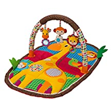 Infantino Take & Play Safari Activity Gym and Play Mat, Multicolor