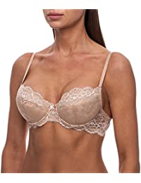 Women's Push-up Lace Comfortable Underwire Demi Bra