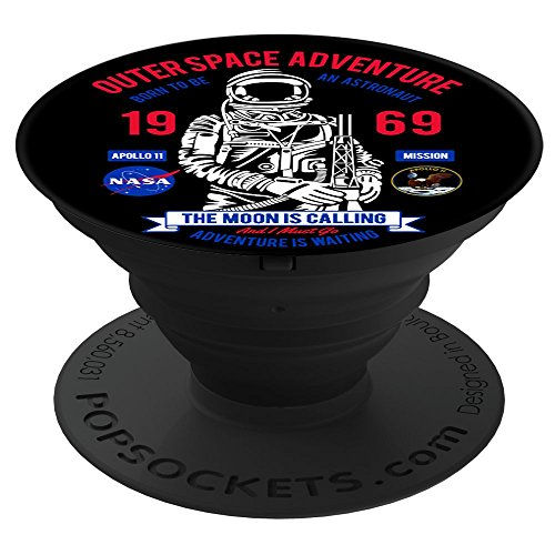Fuzewear - NASA NASA Apollo 11 Astronaut Black PopSockets Stand for Smartphones and (Apollo Prop)