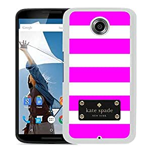 Fashionable And Unique Kate Spade Cover Case For Google Nexus 6 White Phone Case 120