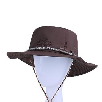 Sunny Sombrero para El Sol Hombre Temporada De Verano De Moda Poliéster  Sombrero De Pescador Sombrero De Cuenca (Color   E)  Amazon.es  Deportes y  aire ... 634b8085b9ac