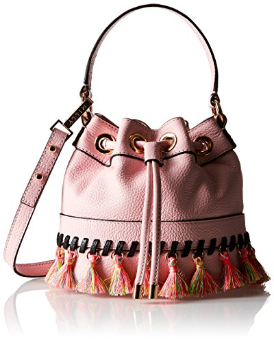 Tassel Drawstring Bag Whitpstitch MILLY Body Cross SM Blush gwn78