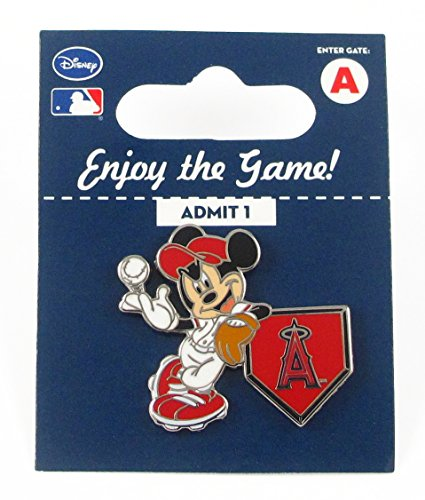 - MLB Los Angeles Angels Disney Pin - Mickey Leaning on Home Base