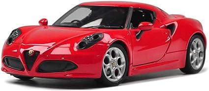 kaige Coche Modelo de Coche 1:24 Alfa Romeo 4C Simulaci/ón de aleaci/ón de fundici/ón a presi/ón de Joyas de Juguete colecci/ón de Coches Deportivos joyer/ía 16x8x5CM WKY