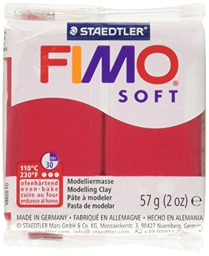 STAEDTLER Fimo Soft Polymer Clay 2 Ounces-8020-26 Cherry Red