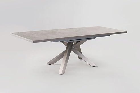 Esstisch ausziehbar grau  Esstisch ausziehbar Daures 50 (eckig), Farbe: Grau - Abmessungen ...