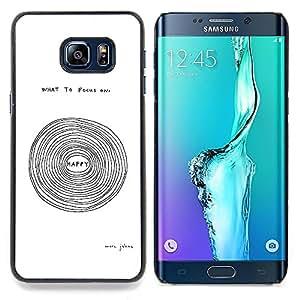 Stuss Case / Funda Carcasa protectora - Feliz texto de motivación inspiradora Blanca - Samsung Galaxy S6 Edge Plus / S6 Edge+ G928