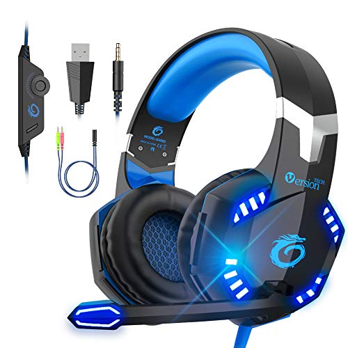 VersionTECH. G2000 Gaming Headset, Xbox Headset for PS4 PC Xbox One PS5 Controller, Noise Cancelling Over Ear Headphones…