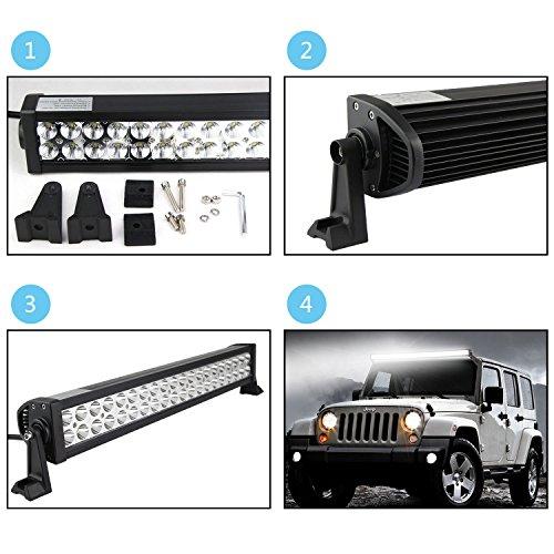Northpole-Light-2x-18W-Waterproof-Cree-SpotFlood-LED-Light-Bar-Work-Light-LED-Off-road-Lights-