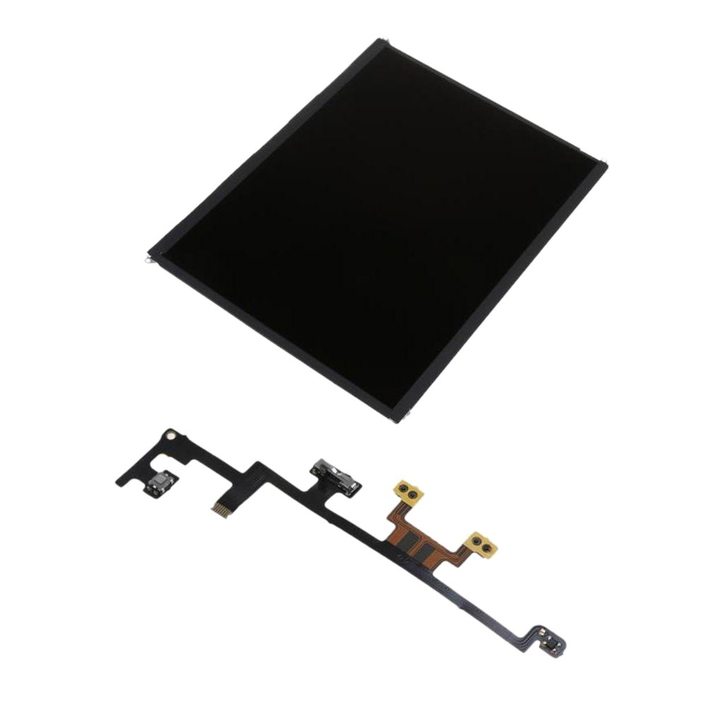 MagiDeal Front Glass Touch Screen Digitizer LCD Display + Power Volume Mute Switch Flex Cable Replacement Part for iPad 3 4