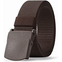 JASGOOD Mens Nylon 1.5in Width Adjustable Belt With Military Plastic Buckle