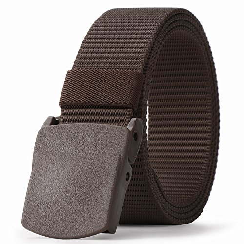 JASGOOD Mens Belt Nylon Belt 1.5in Width With Military Plastic Buckles