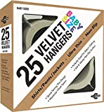Baby : Closet Complete Baby Size, Premium Heavyweight, Velvet Hangers – Ultra-Thin, Space Saving, No-Slip, Perfectly Sized For Babies 0-48 months, Ivory, Set of 25