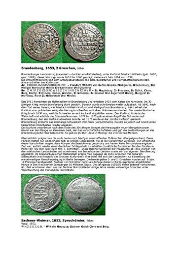 Kalenderblatt zum Jahr 1653: Zur Auflösung der Umschriften des brandenburger Zweigroschenstückes (Zwei Groschen Brandenburg und ein Spruchdreier Sachsen-Weimar des Jahres 1653) (German Edition)