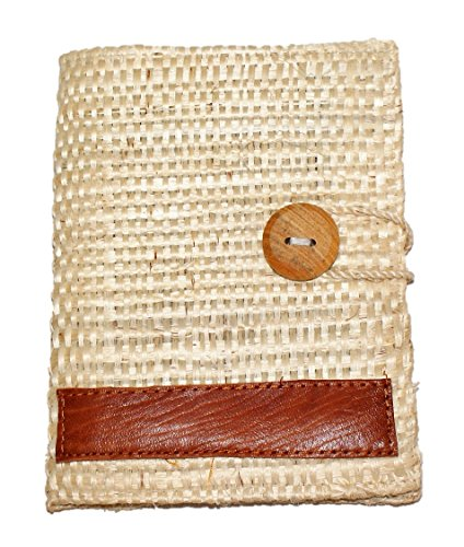 Refillable Handmade Henequen Fiber Cover Notebook (Natural) Large 5 x 7 In.