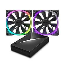 NZXT Hue + & aer rgb120Bundle Pack RGB 2x Ventiladores de 120mm AER ventiladores incluidos