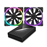 NZXT AER RGB Computer Fan and HUE+ Combo 120mm x 2