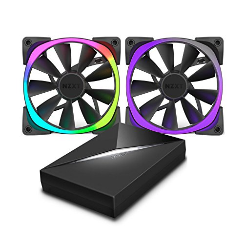 NZXT AER RGB Computer Fan and HUE+ Combo 120mm x 2 by NZXT (Image #3)