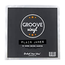Groove Vinyl 12 Inch Outer Record Sleeves (50 Pack)