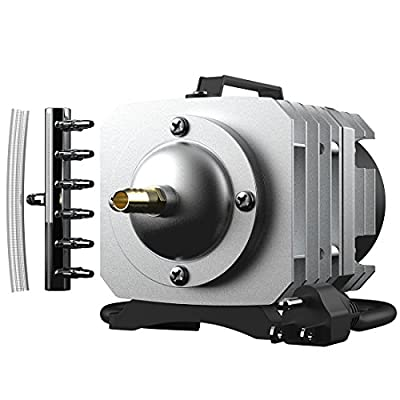 VIVOHOME 110V Electromagnetic Commercial Air Pump for Aquarium and Hydroponic Systems