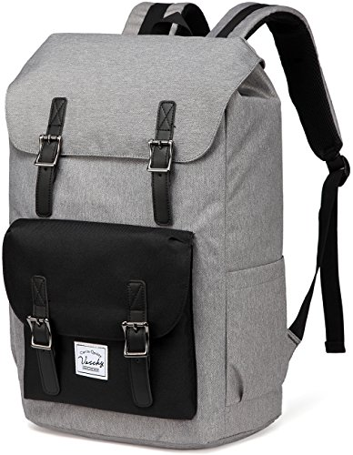 - Backpack for Men,Vaschy Casual Water-resistant Hiking Camping Daypack Travel School Backpack Bookbag for College Fits 15.6inch Laptop
