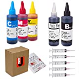 JetSir 5 Color Compatible Ink Refill Kit Use for HP 564 364 178 Inkjet Cartridge Refillable Cartridge CISS 100ML X5 (1 Black 1 Photo Black 1 Cyan 1 Magenta 1 yellow) with Syringe and instruction
