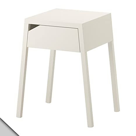 Amazon.com: IKEA SELJE – Mesita de noche, color blanco ...